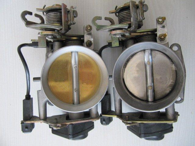 Drosselklappe: rechts -> original 68mm / links -> vergrößert 71,2 mm