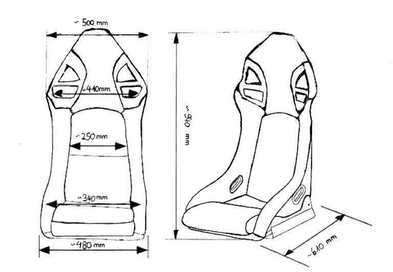 Maße Sitz GT Style