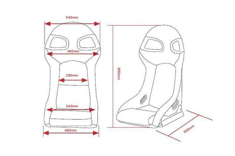 Maße GT3-Style Sitz